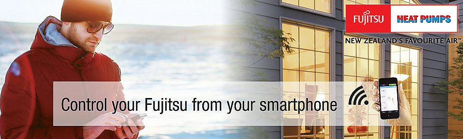 Fujitsu Heat Pumps - smart phone control