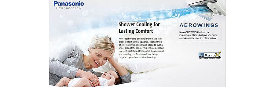 Panasonic Heat Pumps - Aerowings shower cooling